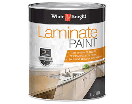 White Knight Laminate Paint Coverage